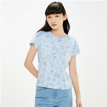 Tie-dye cotton crewneck t-shirt