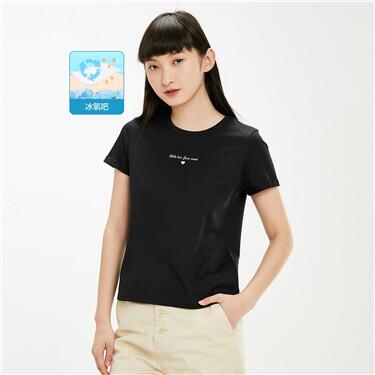 女裝黑科技涼感印花短袖T恤