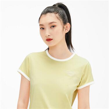 【網上獨家】女裝刺繡字母短袖T恤
