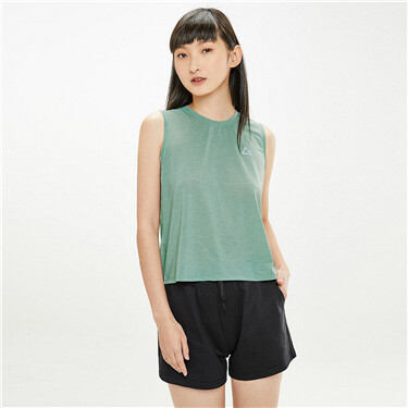G-Motion crewneck vent sleeveless tee