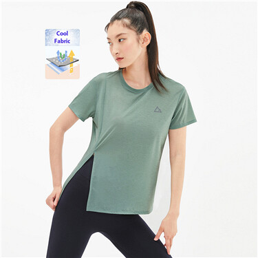 Crewneck vent short sleeves tee
