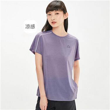 Crewneck contrast color short sleeves tee