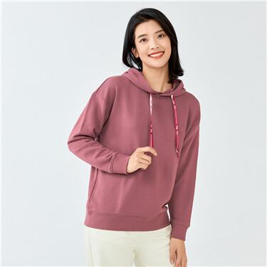 G-MOTION drawstring loose hoodie