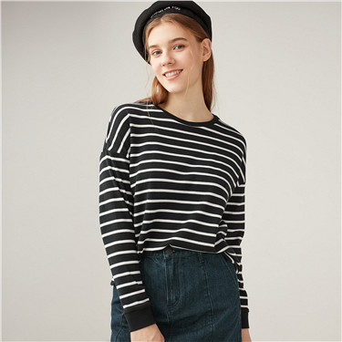 Thick loose striped tee