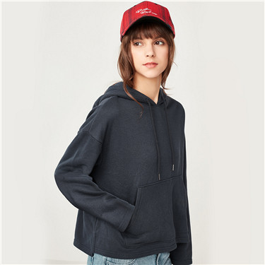 Kanga pocket loose hoodies