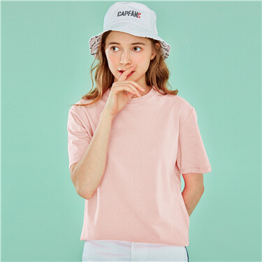 Cotton crewneck short-sleeve tee