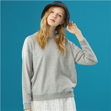 Solid color crewneck sweatshirt