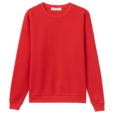 Solid color crewneck sweatshirt