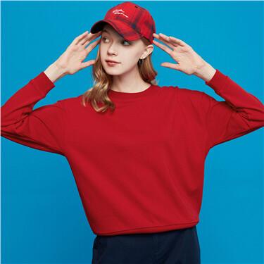Solid color crewneck sweatshir