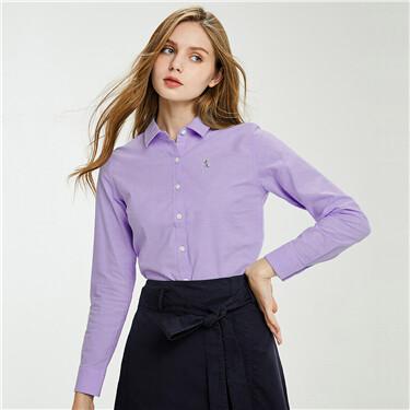 Women Cotton Oxford Slim Shirt