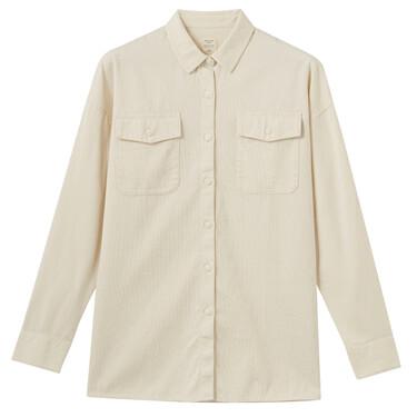 女裝純棉工裝風襯衫