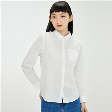 Loose single patch pocket shirt