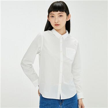Loose single patch pocket shirt