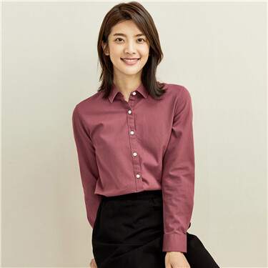 Corduroy long-sleeve casual shirt