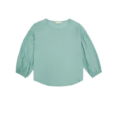 Rayon Round Neck Long Sleeve