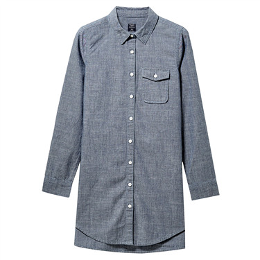 Cotton denim shirt dress