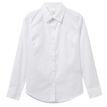 弹力牛津纺长袖休闲衬衫
