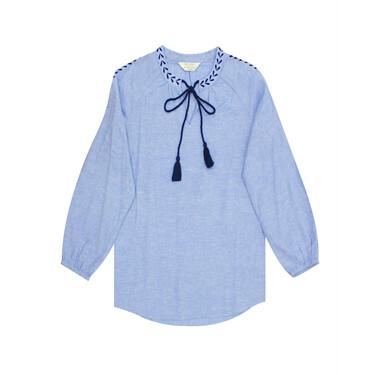 Linen cotton long-sleeve shirt