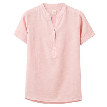 Linen Cotton V-Neck Blouse