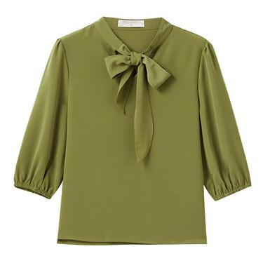 Cotton short-sleeve shirt
