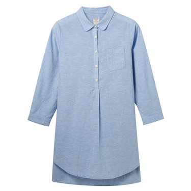 Mid-Long Linen-Cotton Shirt