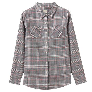 女裝純棉溫暖磨毛長袖襯衫