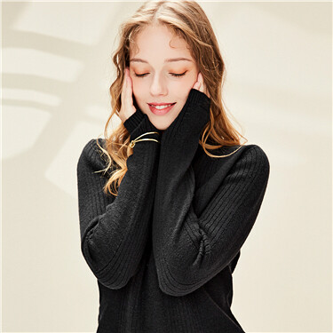 Thick Slim Mock Neck Sweater