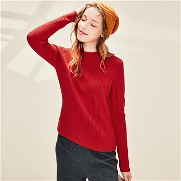 Thick slim mockneck sweater