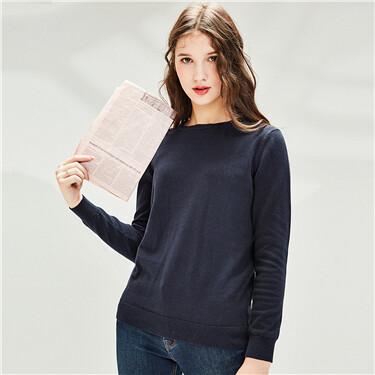 Cotton o-neck sweater