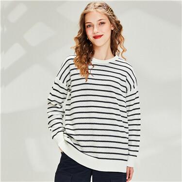 Cotton Plain Crew Neck Sweater