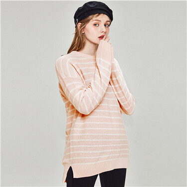 Cotton Plain Crew Neck Sweater