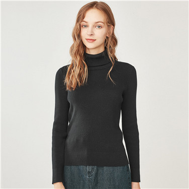 Turtleneck contton slim sweater