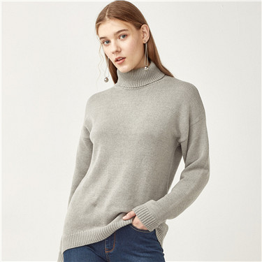 Thick loose turtleneck sweater
