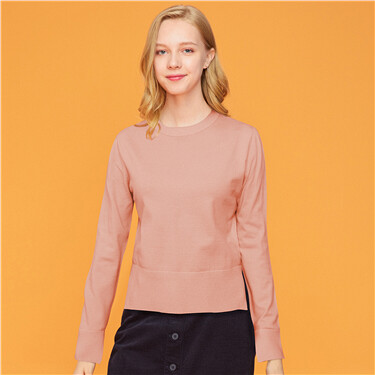 Mockneck long-sleeve sweater
