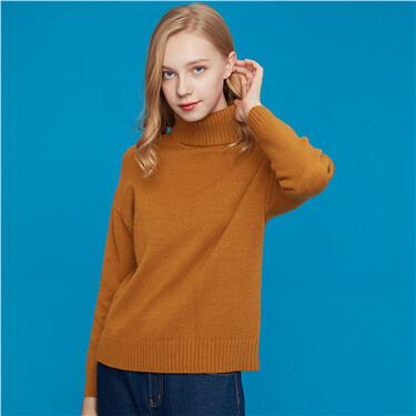 Solid turtleneck sweater