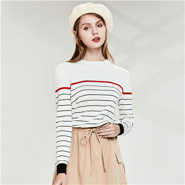Combed striped sweater