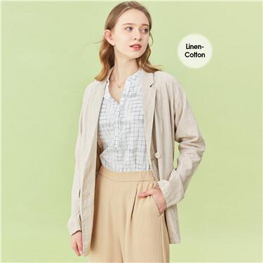 Linen blended loose jacket