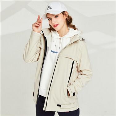 Bonded polar fleece-lined hood