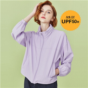 Anti-UV hooded thin jacket