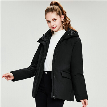 Hooded 90% duck down jacket