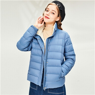 Lightweight 90% white duck down jacket