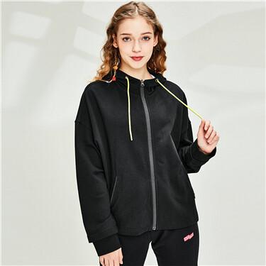 Loose short cotton jacket