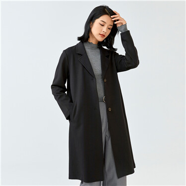 Notched lapel two buttons long coat