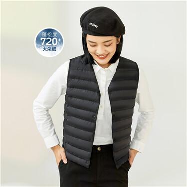 Lightweight whit duck down jacket vest