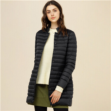 Long 90% white duck down jacket