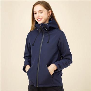 Polar fleece hooded jacket