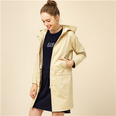 Hooded long sleeve jacket