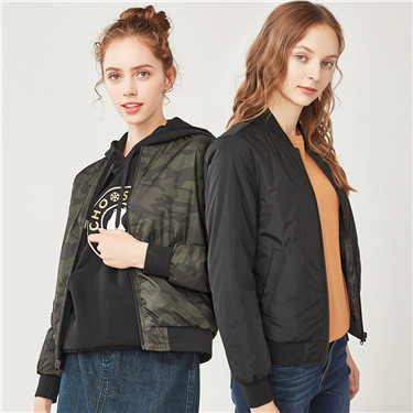 Thick padded reversible bomber jacket