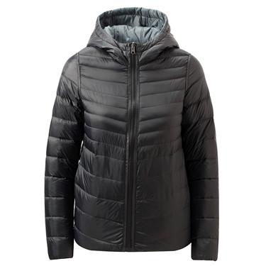 Hooded light weight down jacket