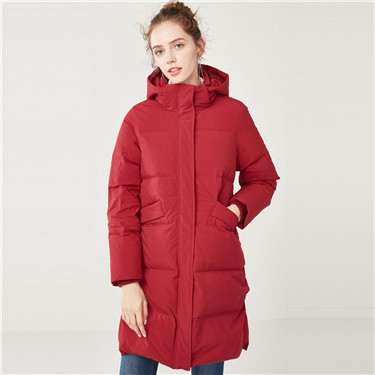 Detachable hood long down jackets